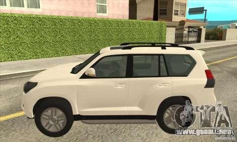 Toyota Land Cruiser Prado 150 para GTA San Andreas left