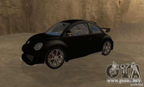 Volkswagen Bettle Tuning para la visión correcta GTA San Andreas