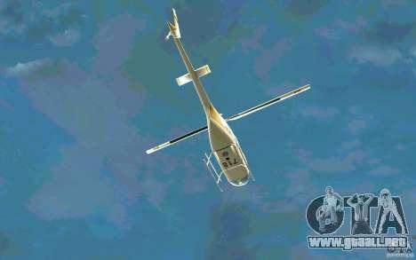 Bell 206 B Police texture4 para vista lateral GTA San Andreas
