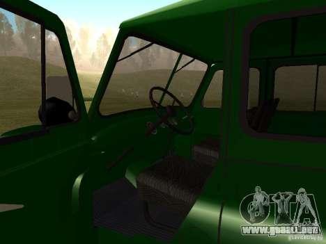 UAZ 469 militar para GTA San Andreas vista hacia atrás