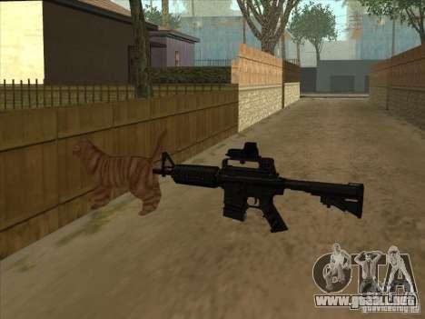 Gato en cambio silenciador en el M4 para GTA San Andreas