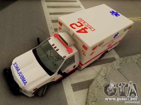 Ford F350 Super Duty Chicago Fire Department EMS para vista lateral GTA San Andreas