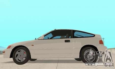 HONDA CRX II 1989-92 para GTA San Andreas left