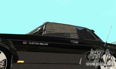 Tunning 2106 VAZ Fantasy ART para visión interna GTA San Andreas