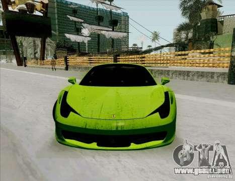 Ferrari 458 Spider para visión interna GTA San Andreas