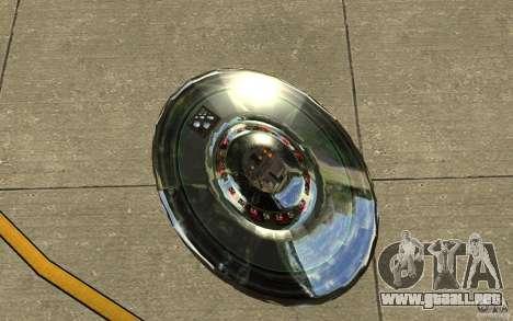 Real UFO para GTA San Andreas vista hacia atrás