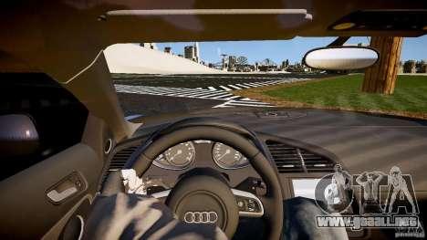 Audi R8 2008 para GTA 4 vista hacia atrás