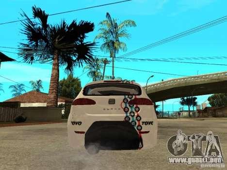 Seat Leon Cupra Bound Dynamic para GTA San Andreas vista posterior izquierda