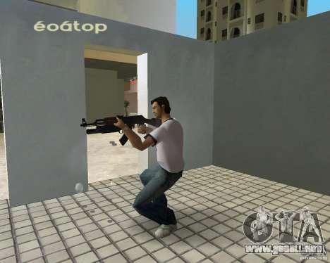 AK-47 con un grenade launcher М203 para GTA Vice City segunda pantalla