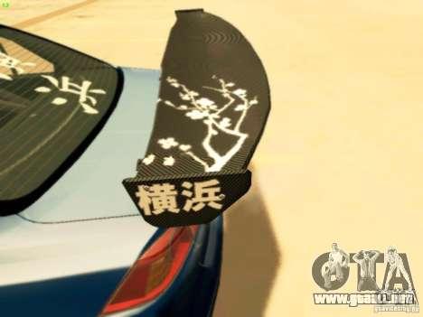 Mitsubishi Lancer Evolution X Time Attack para la visión correcta GTA San Andreas