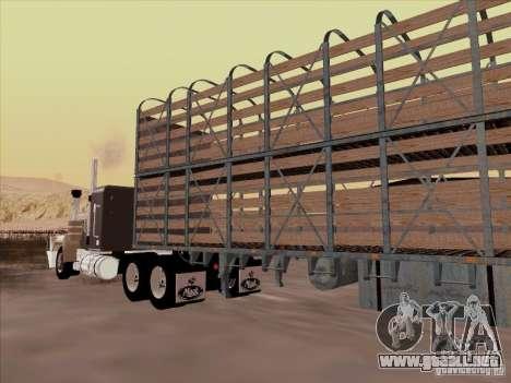 Mack RoadTrain para visión interna GTA San Andreas