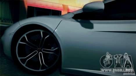 McLaren MP4-12C 2012 para GTA San Andreas vista hacia atrás