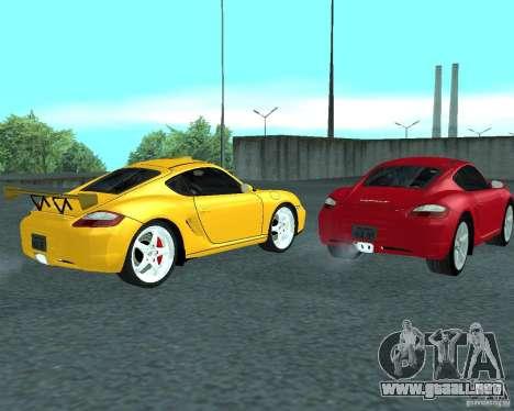 Porsche Cayman S para la visión correcta GTA San Andreas