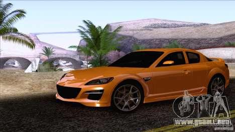 Mazda RX8 R3 2011 para GTA San Andreas vista posterior izquierda