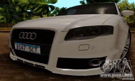 Audi RS4 2007 para la visión correcta GTA San Andreas