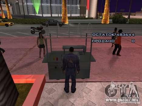 Vendedor de perritos calientes para GTA San Andreas tercera pantalla