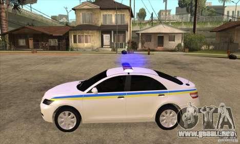 Toyota Camry 2010 SE Police UKR para GTA San Andreas left