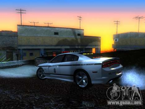 Dodge Charger SRT8 Police para GTA San Andreas left