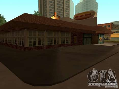 New Burger Shot para GTA San Andreas tercera pantalla