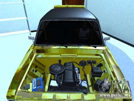 2106 Vaz (oro) para GTA San Andreas vista posterior izquierda