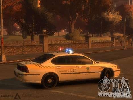 Chevrolet Impala Police 2003 para GTA 4 visión correcta