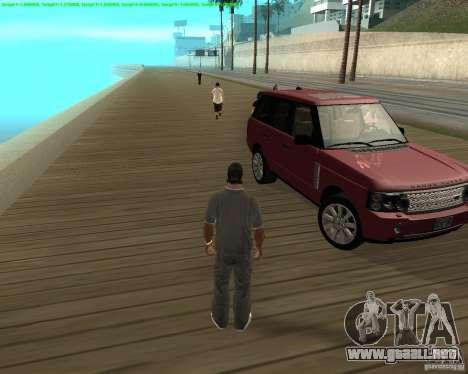 La rueda dio vuelta al salir de un coche para GTA San Andreas tercera pantalla