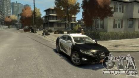 Ford Taurus Sheriff 2010 para GTA 4