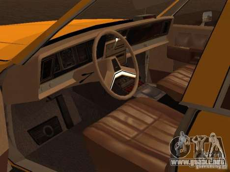 Chevrolet Caprice 1986 Taxi para GTA San Andreas vista hacia atrás