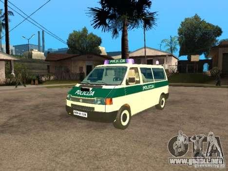 Volkswagen Transporter T4 Bosnian police para GTA San Andreas
