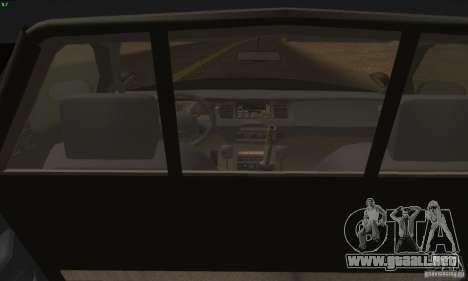 Ford Crown Victoria Alaska Police para GTA San Andreas vista posterior izquierda