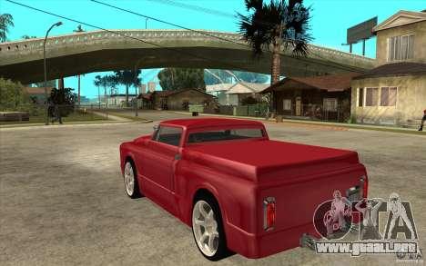 Slamvan Custom para GTA San Andreas vista posterior izquierda