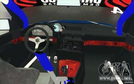 BMW E34 V8 para la vista superior GTA San Andreas