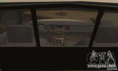 Ford Crown Victoria California Police para GTA San Andreas vista posterior izquierda