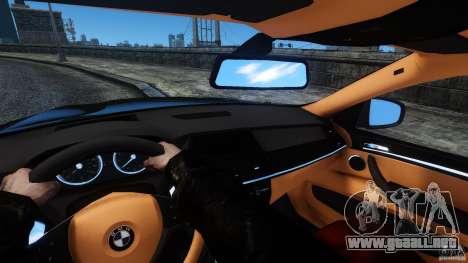 BMW X6 2013 para GTA 4 vista interior