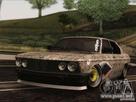 BMW E28 525E RatStyle para GTA San Andreas left