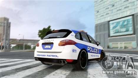 Porsche Cayenne Cop para GTA 4 left