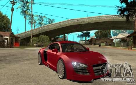 Audi R8 5.2 FSI custom para GTA San Andreas vista hacia atrás