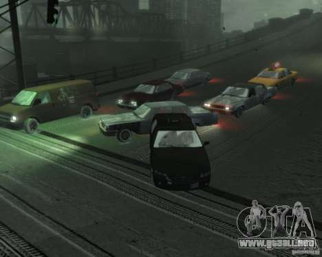 Winter Handling para GTA 4 adelante de pantalla