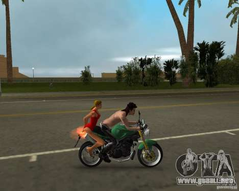 Triumph Speed Triple para GTA Vice City vista lateral izquierdo
