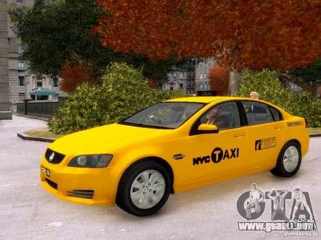 Holden NYC Taxi V.3.0 para GTA 4 vista lateral