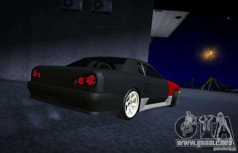 New Elegy para GTA San Andreas vista posterior izquierda