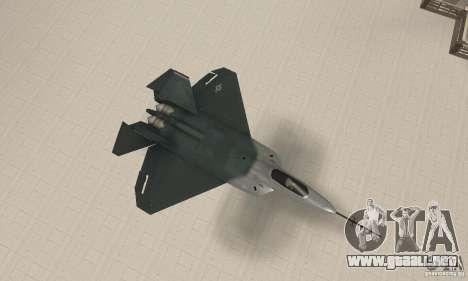Y-f22 Lightning para la visión correcta GTA San Andreas