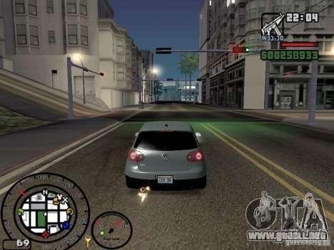 El fuego de los tubos de escape v2.0 para GTA San Andreas sucesivamente de pantalla