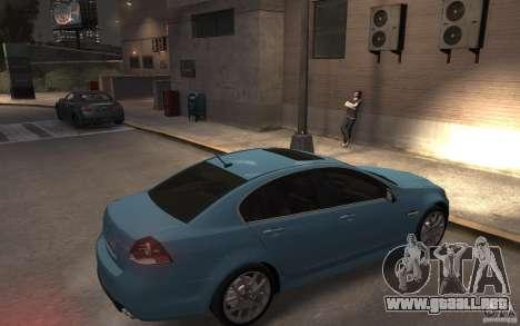 Pontiac G8 GXP para GTA 4 visión correcta