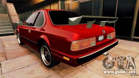 BMW M6 1985 Tuning Final para GTA 4 visión correcta