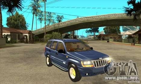 Jeep Grand Cherokee 2005 para GTA San Andreas vista hacia atrás