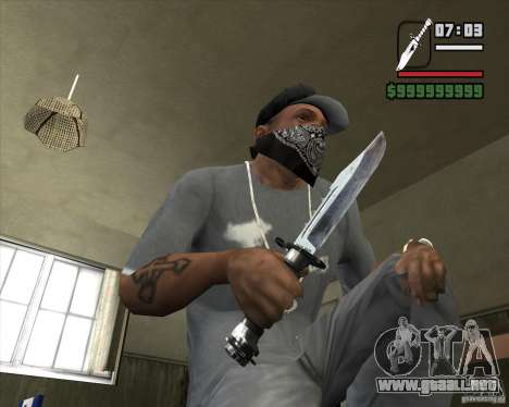 El cuchillo de Nº 4 de la acosadora para GTA San Andreas