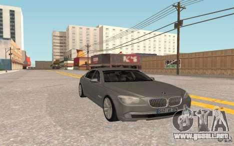 BMW 730d para GTA San Andreas vista posterior izquierda