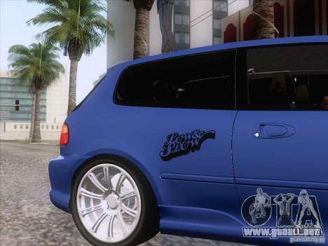 Honda Civic IV GTI para GTA San Andreas vista hacia atrás