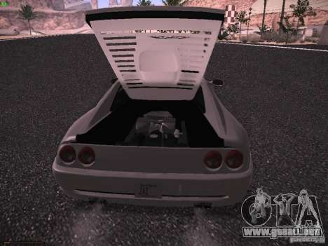 Ferrari F355 Targa para GTA San Andreas vista hacia atrás